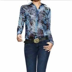 CAbi | Python snake print sheer blouse style# 609